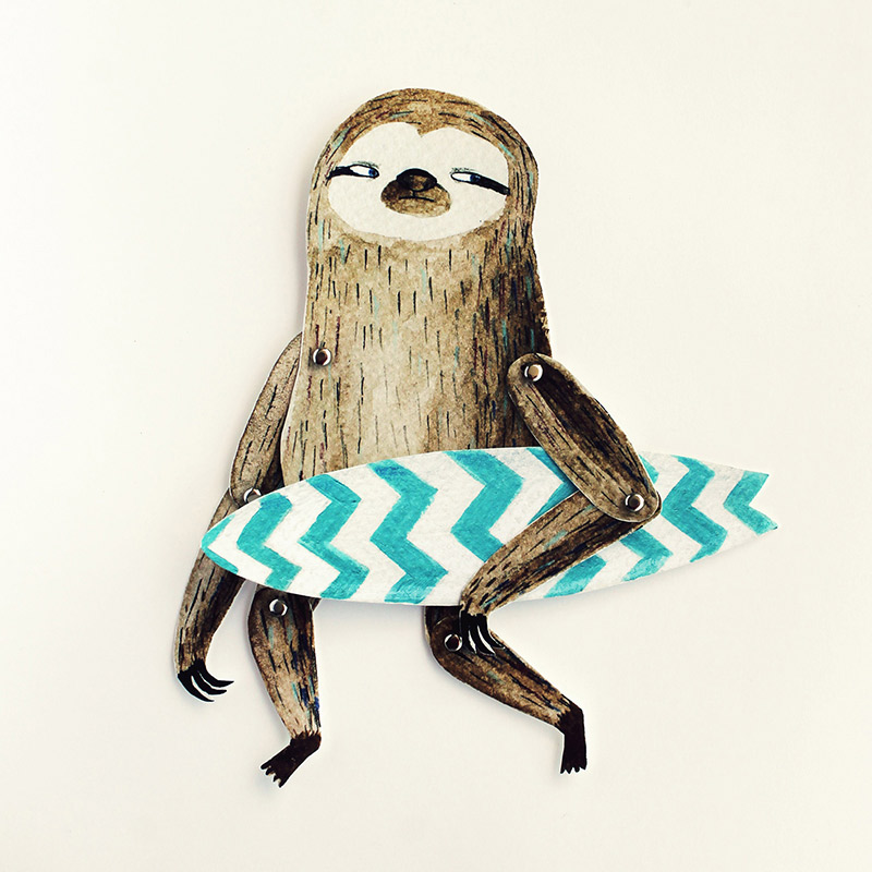 Surfing Sloth