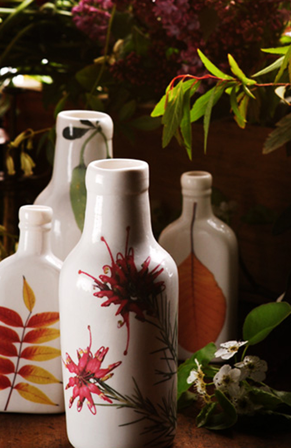 Angus & Celeste hand-painted ceramic bottles