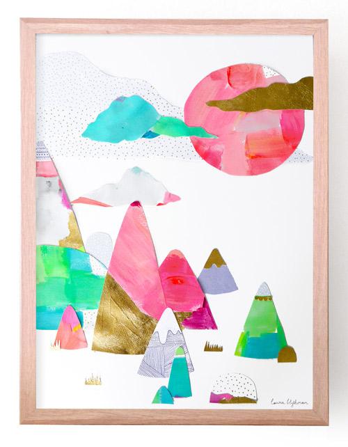 Laura Blythman artist  mountains watercolour