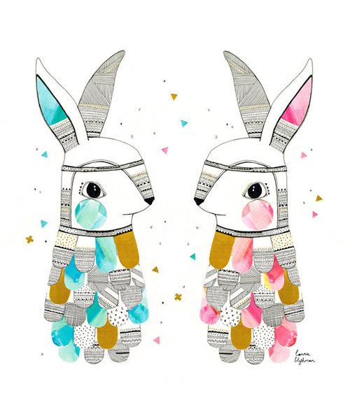 Laura Blythman artist rabbits