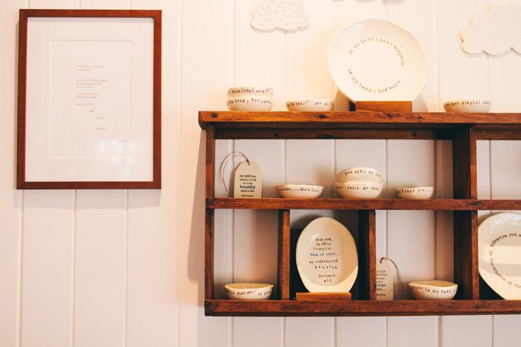 Paper Boat Press Interior Shot Ceramics