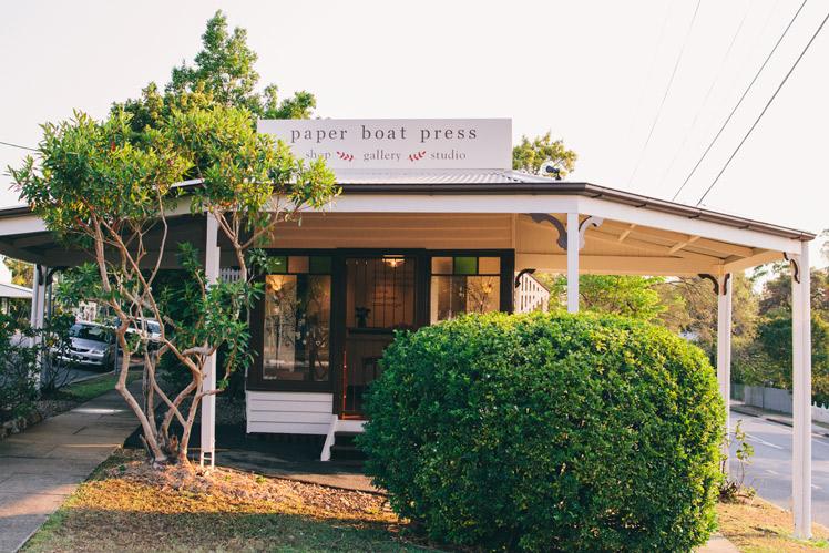Paper Boat Press Exterior Shop