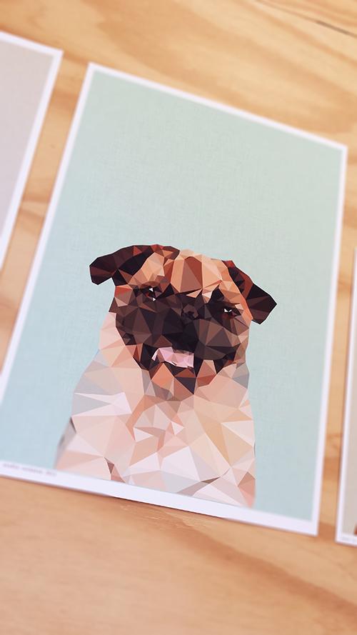 Studio Cockatoo Pug print