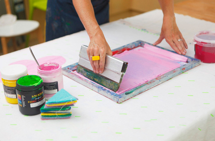Taylor + cloth screen printing