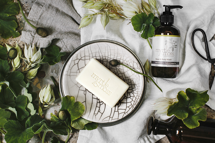 myrtle and moss hand and body wash soap