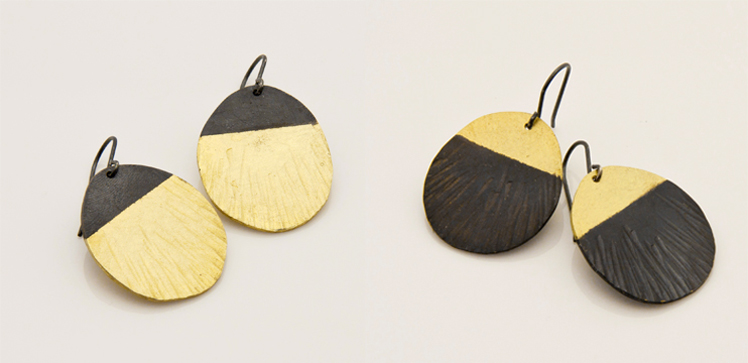 Alison Jackson hedgehog earrings dipped