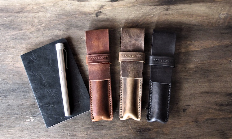 Bas and Lokes Leather Goods pen case