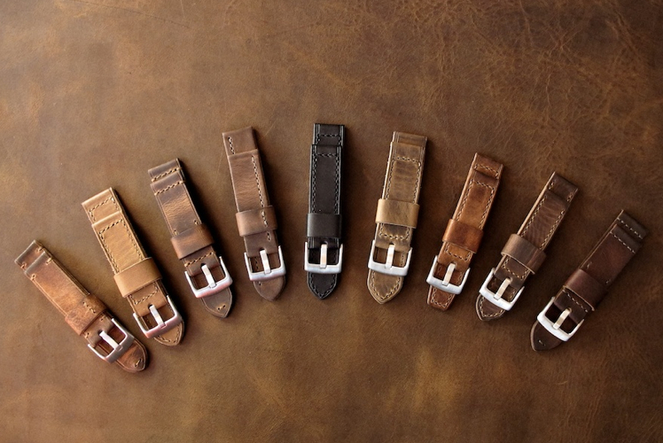 Bas and Lokes Leather Goods watch straps