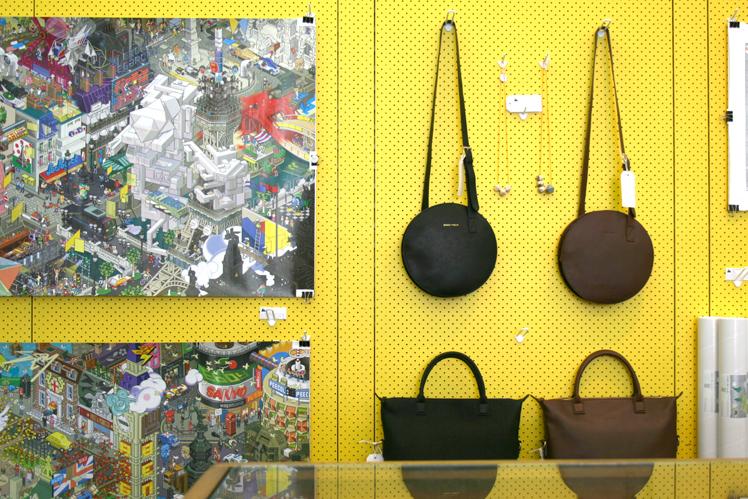 Happy Valley Shop Melbourne Interior Yellow Peg Board