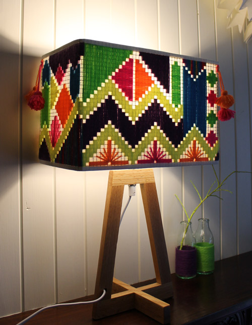 Fizzy Lime woven lamps