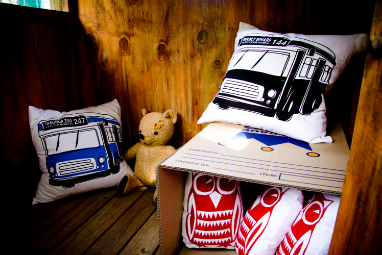 Freddy Alphabet Bus cushions