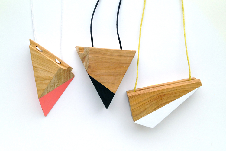 Furrow South, jewellery, necklaces, sustainable timber