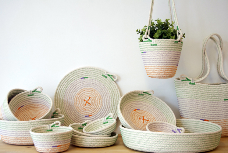 zillpa rope bowls, dishes, pot holders, coasters, bags and plant hangers