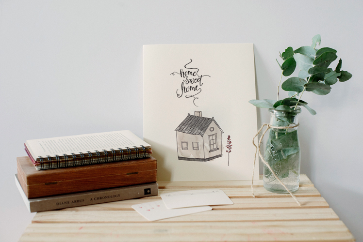 An April Idea Ohme sweet home print