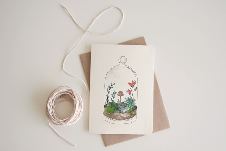An April Idea terriumum card