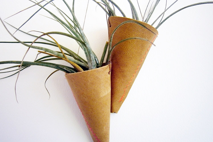 Bog Standard Design leather hanging planters