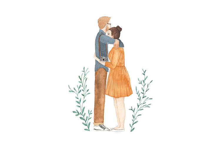 Lauren Merrick Illustration Art Print couple