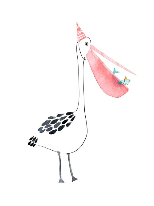Lauren Merrick Illustration Art Print Pelican