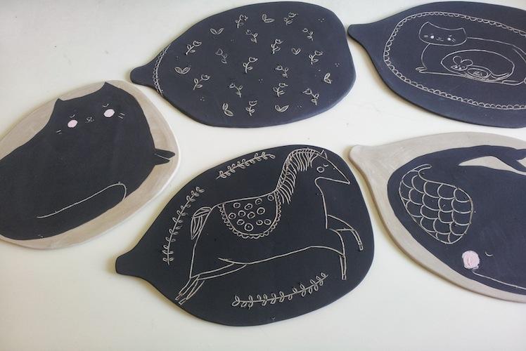 GailCC-Ceramics- platters ceramics