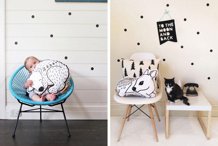 Homely Creatures fawn dear cushion