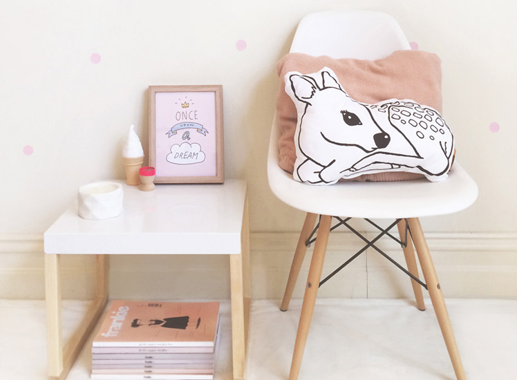 Homely Creatures Fawn Cushion print