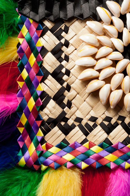 Maryann Talia Pau weaving