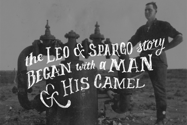 Leo and Spargo Water Pump Postcard