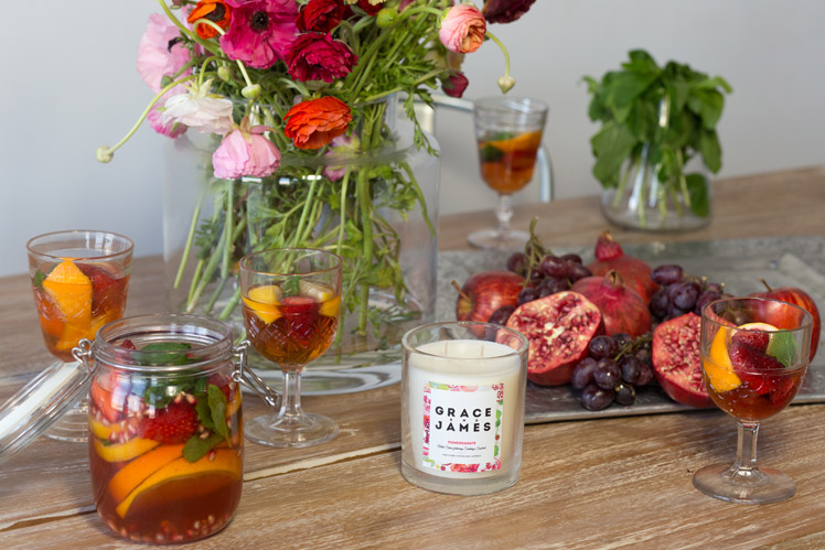 Grace and James lifestyle label candles