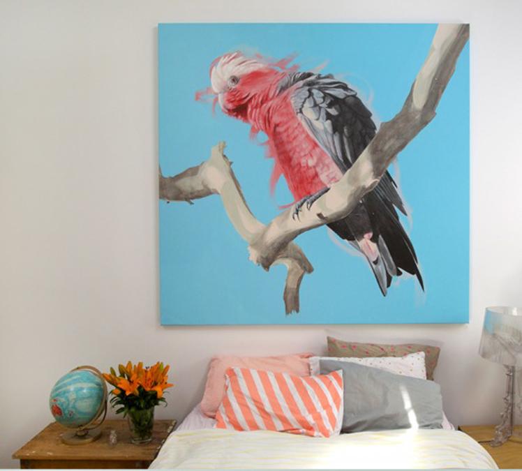 Martinich&Carran Geoffrey Carran's Galah painting 2014