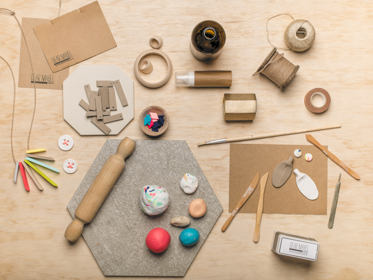 Dear Mabel Handmade clay jewellery workspace