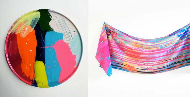 Martinich&Carran ceramic plate and scarf