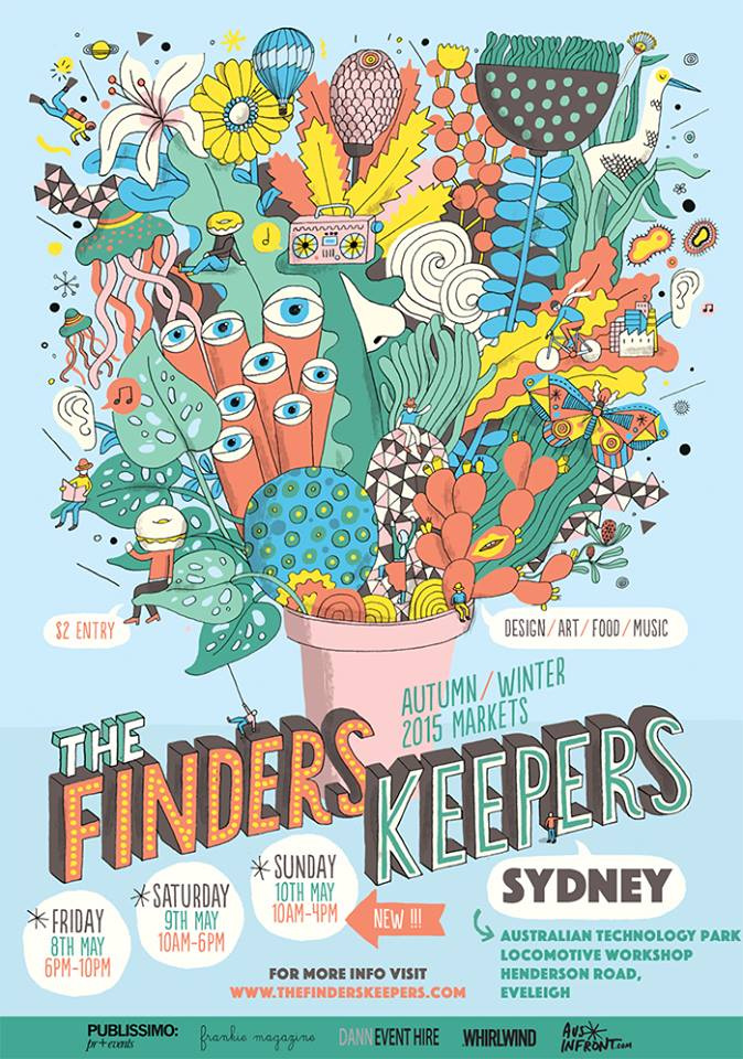 Finders Keepers Poster for Sydney AW15 Markets by James Gulliver Hancock