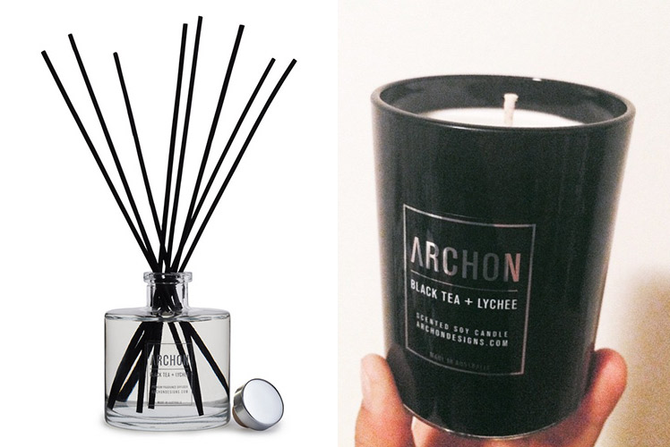 Archon Designs diffuser and candle