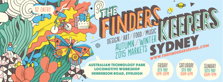 The Finders Keepers Sydney AW15 Market Poster James Gulliver Hancock