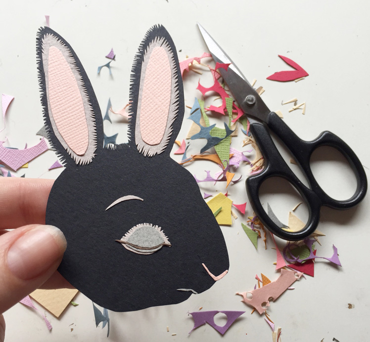 The Storybook Rabbit paper cut out rabbit