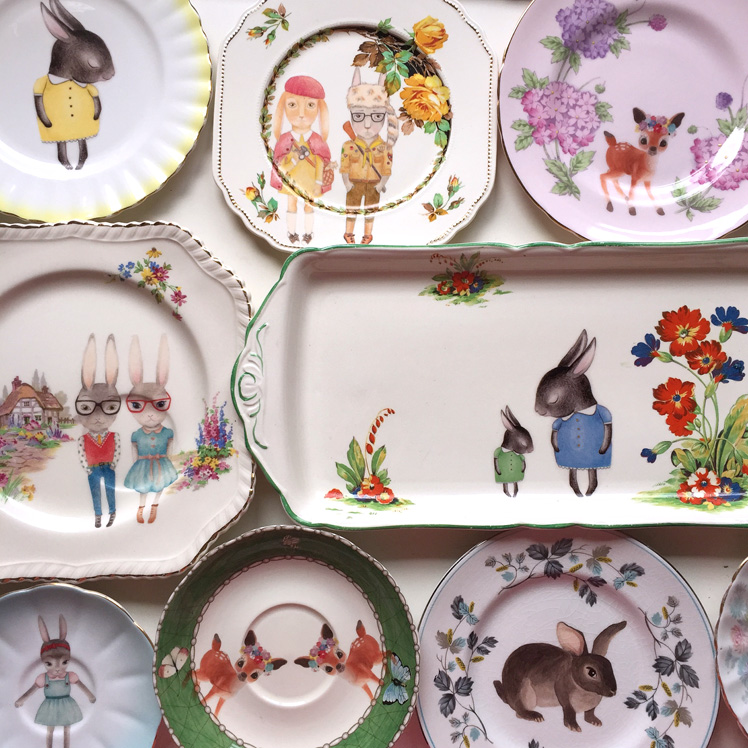 The Storybook Rabbit illustrated plates