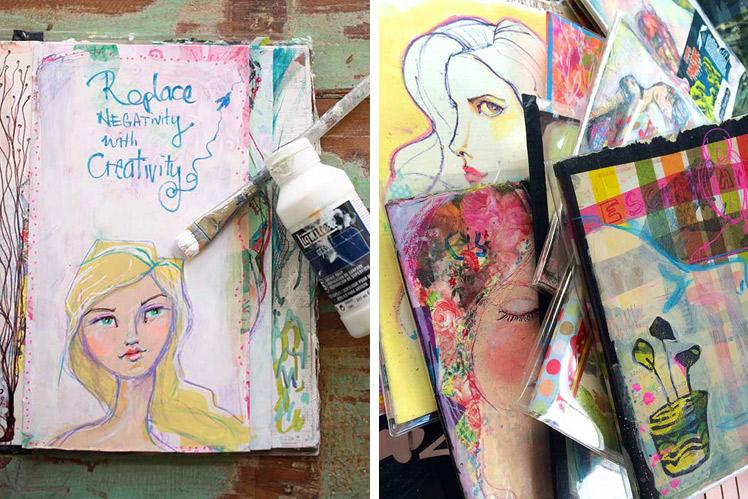 Jane Davenport Art Journals