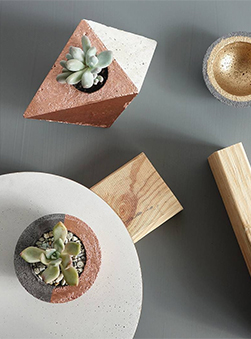 Featured Product: Geometric Concrete Planters by Made by Flint