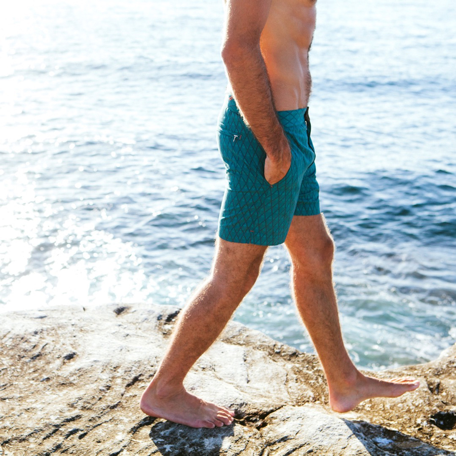 Finders Keepers Mocha Salt Swim Shorts Huck 5