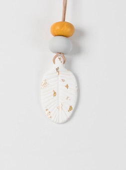 Featured Product: Neon Clay Feather Necklace by Dear Mabel Handmade