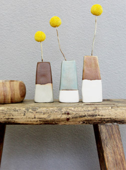 Featured Product: Porcelain & Stoneware Mini Vases by Woodfolk