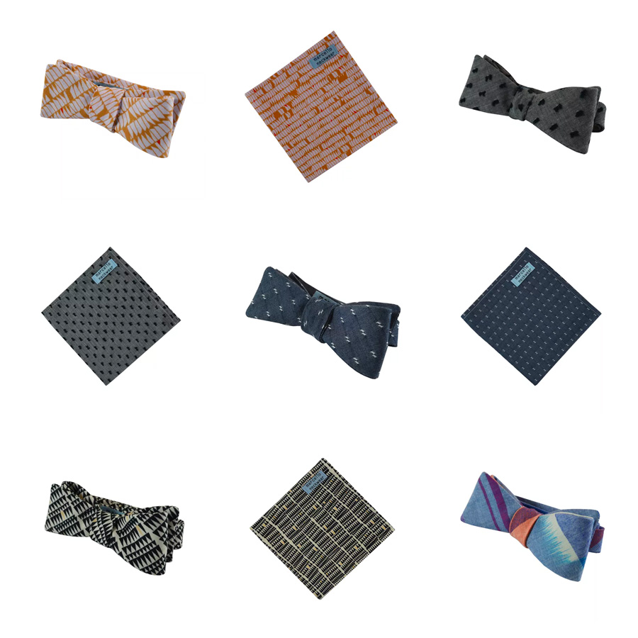 Bowties and Pocket Squares from marcello neckwear