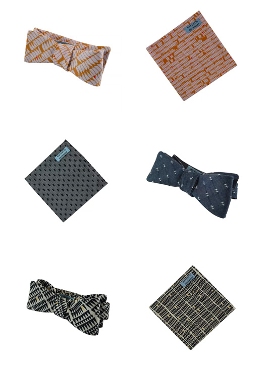 Featured Products: Bow ties and Pocket Squares by Marcello Neckwear