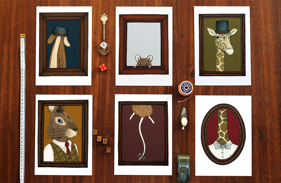 Finders-Keepers-5-questions-The-Nonsense-Maker-Harvey,-Marlon-and-Gerald--Animal-Portrait-Art-Prints
