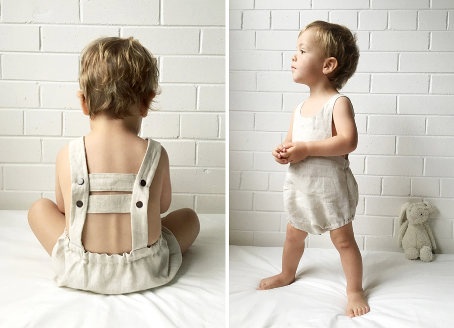 Image features handmade Rover Romper by Kindje