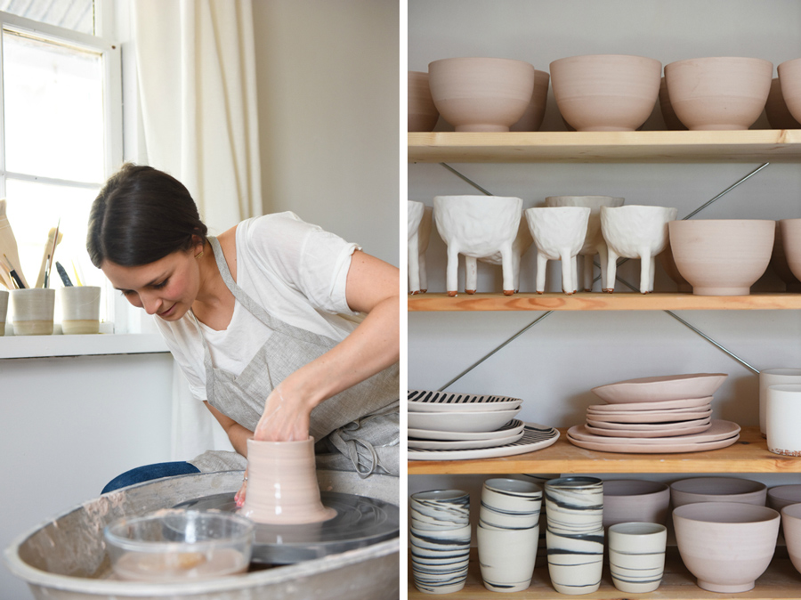 Salad Days Ceramics are handmade by Lucy Leong at her home studio in Glebe, Sydney