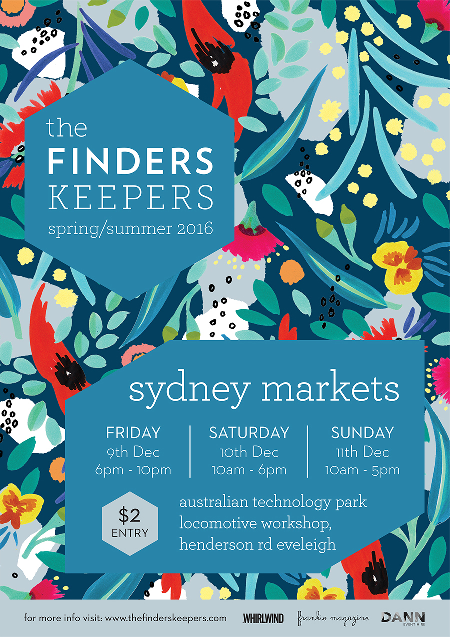 The-Finders-Keepers-Featured-Artist-Julie-White_Finders_Keepers_SS16-Flyer