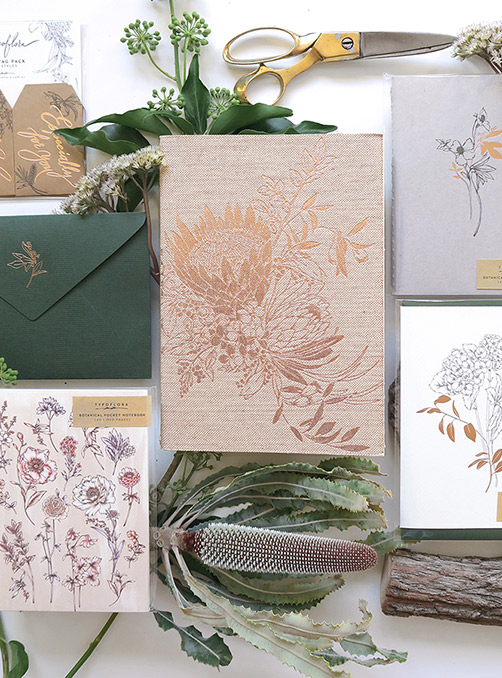 Feature Product: Signature Botanical Notebooks by Typoflora