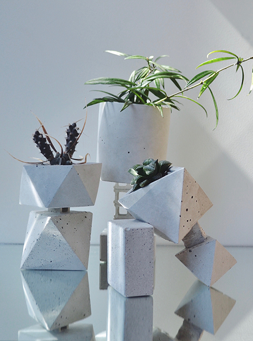 Feature Product: Sculptural Cement Planters by Mali & Wolf