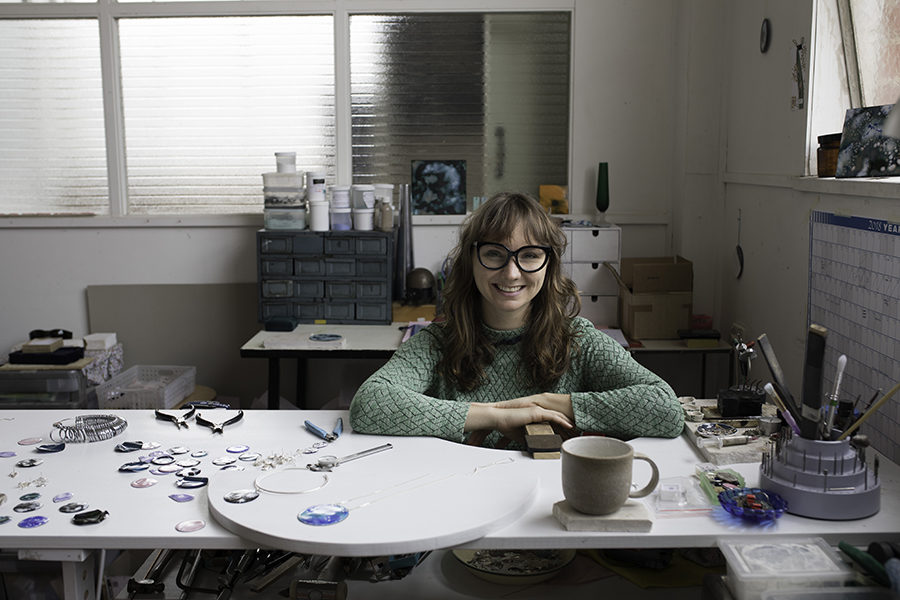 Ada Hodgson in her Collingwood Studio